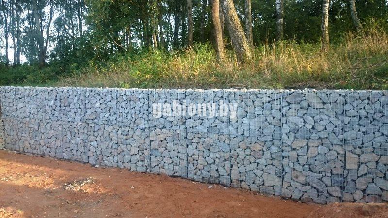 Строительство подпорных стен из габионов в Минске