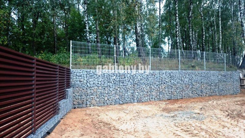 Подпорная стена из габионов заказать в минске
