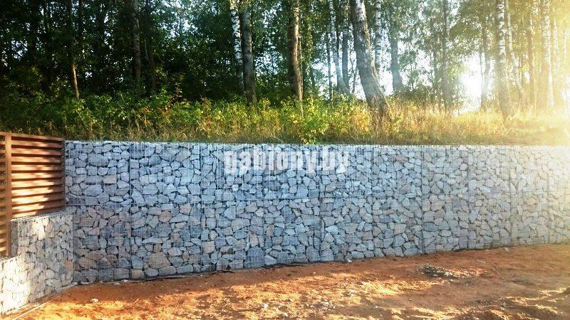 Подпорная стена на дачном участке
