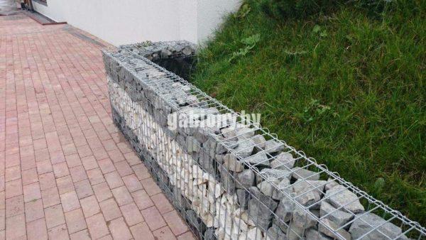 Габионное ограждение, подпорная стенка